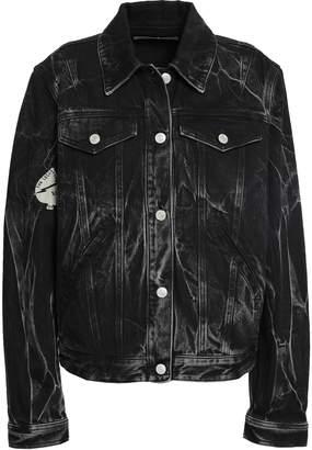 Givenchy Velvet-trimmed Printed Denim Jacket