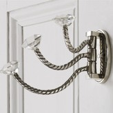 Graham and Green Adjustable Triple Hooks With Clear Glass Knobs