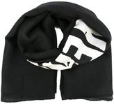 Givenchy logo print scarf - men - Silk/Wool - One Size