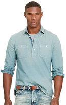 Polo Ralph Lauren Indigo Cotton Jersey Popover