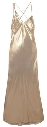 Mason by Michelle Mason Draped Lame Gown