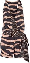 Vix Lanai Layla Wrap-effect Striped Voile Playsuit - Black