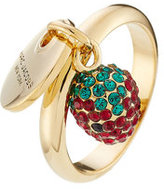 Marc Jacobs Logo Disc and Strawberry Charm Ring