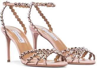Aquazzura Tequila 85 leather sandals