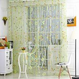 Forart Home Decorative Flowers Shower Curtain Nature Series with Vivid Color Brighten Bathroom.(Green)