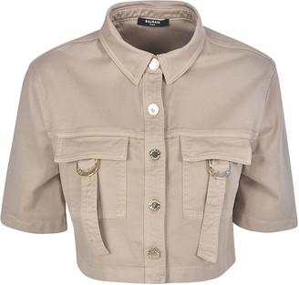 Balmain Cropped Military Shirt