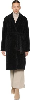 Max Mara 'S Belted Faux Fur Coat