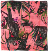 Paul Smith macaw print scarf