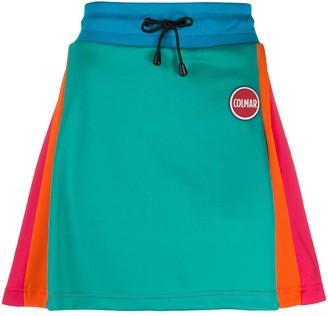 Colmar colour-block A-line mini skirt