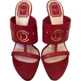 Christian Dior Burgundy Leather Sandals