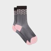 Paul Smith Women's Black Semi-Sheer 'Ava Spot' Socks