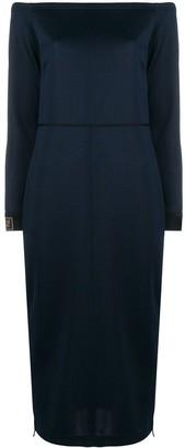 Fendi Strapless Midi Dress