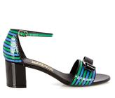 Salvatore Ferragamo Gavina zigzag-trimmed patent-leather sandals