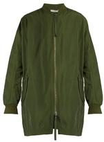 Vince Zip-front cotton-blend coat