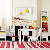 west elm Gradiated Stripe Cotton Rug - Coral