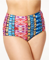 Raisins Curve Plus Size Around the World Printed High-Waist Bikini Bottoms Women's Swimsuit