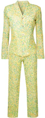 Yohji Yamamoto Pre Owned Abstract Print Suit