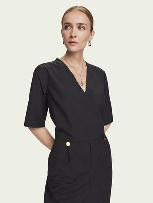 Scotch & Soda Tailored V-neck short sleeve jumpsuit | Women