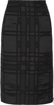 Belstaff Hartley jacquard wool and silk-blend skirt