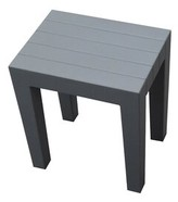Design By Intent Indestructible 15-Inch Bathroom Stool in Grey Design by Intent Color: Gray