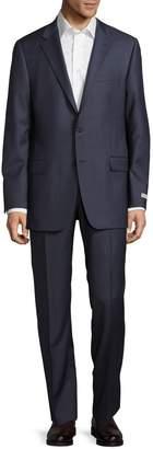 Hickey Freeman Milburn II Long Fit Wool Suit