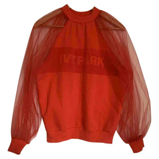 Ivy Park Red Cotton Tops