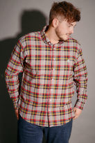 Yours Clothing Le Breve Mustard, Red & Grey Checked Shirt