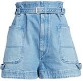 Isabel Marant Kike Belted Denim Shorts
