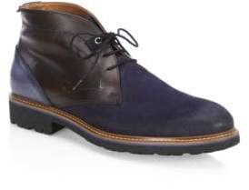Saks Fifth Avenue COLLECTION Mixed Media Leather Chukka Boots