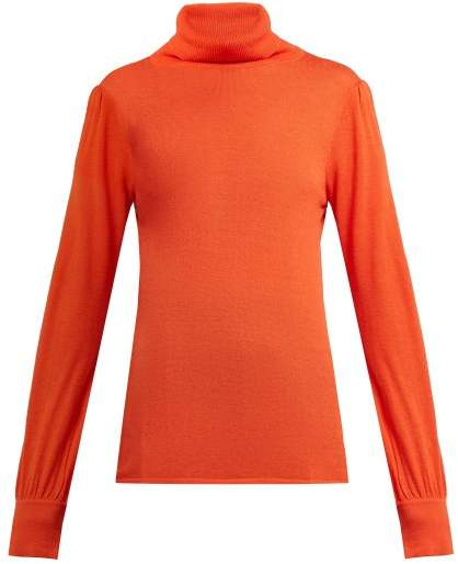 Goat Garbo Roll Neck Sweater - Womens - Orange