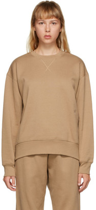 Totême SSENSE Exclusive Beige Silk Terry Sweatshirt