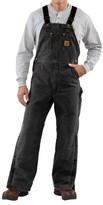 Carhartt Quilt-Lined Bib Overalls - Sandstone Duck (For Men)