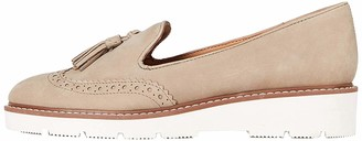Find. Leather Brogue Loafers Grey) 7 UK