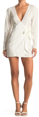 WeWoreWhat Blanca Wrap Tie Mini Dress