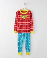 Kids DC ComicsTM Wonder Woman Long John Pajamas In Organic Cotton