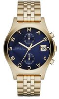 Marc by Marc Jacobs Slim Chrono Goldtone Stainless Steel Chronograph Bracelet Watch/Blue