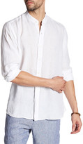 Toscano Mandarin Collar Linen Regular Fit Shirt