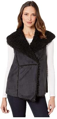 Dylan by True Grit Shaggy Suede Hook Up Vest (Vintage Black) Women's Vest