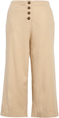 BP Button Front Linen Blend Pants