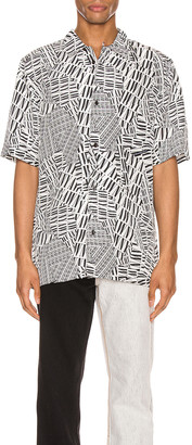 Alexander Wang Silk Hawaiian Shirt in Black & White | FWRD