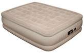 Pure Comfort Queen Raised Suede Top Air Bed with Built in Pump