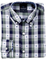 Tailorbyrd Woven Green Dress Shirt (Big Boys)
