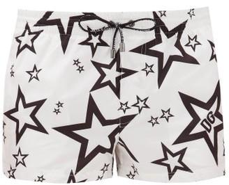 Dolce & Gabbana Star-print Swim Shorts - White
