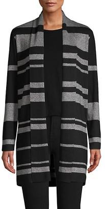 Calvin Klein Striped Shawl Collar Cardigan