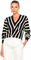 Chloé Sailor Stripe V-Neck Sweater