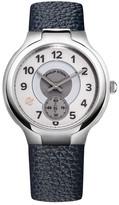 Philip Stein Teslar Men&s Round Dial Blue Leather Strap Watch