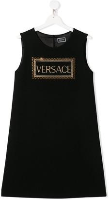 Versace TEEN logo print dress