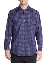 Bugatchi Shaped-Fit Printed Sportshirt
