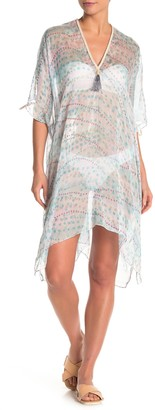 Pool' Pool To Party Printed Sheer Cover-Up