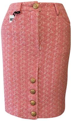 Moschino Pink Tweed Skirts